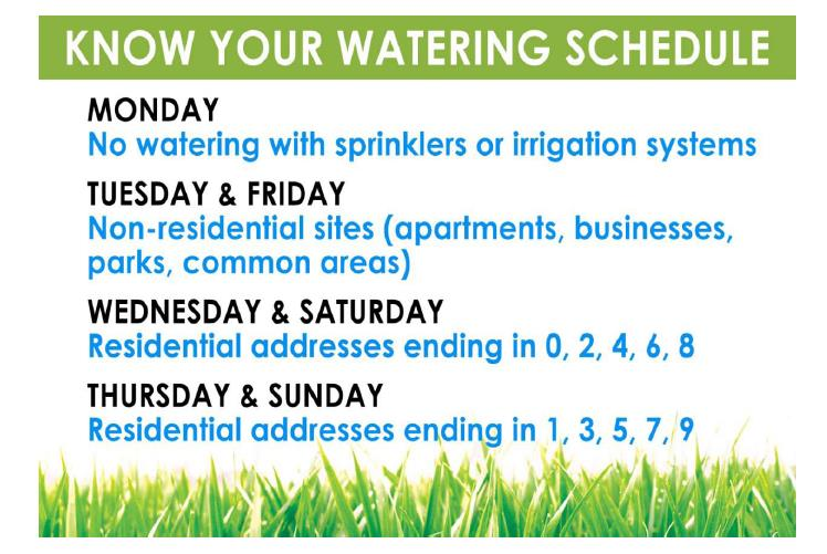 Watering Sched.